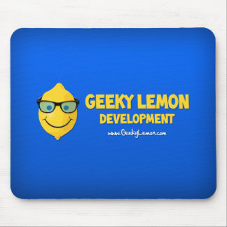 Geeky Lemon Logo Mouse Mat