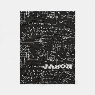 Geeky Math Mathematics Personalized Fleece Blanket