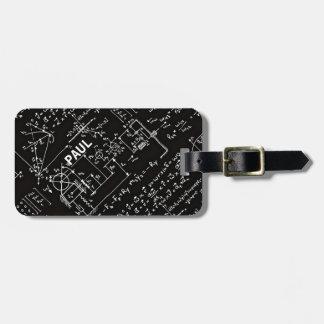 Geeky Math Mathematics Personalized Luggage Tag
