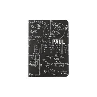 Geeky Math Mathematics Personalized Passport Holder