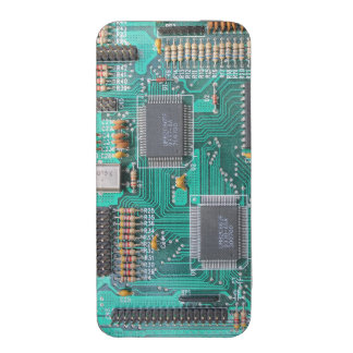 Geeky motherboard, computer circuit board