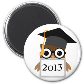 Geeky Owl with Grad Cap Class Of Graduation Magnet