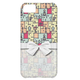 geeky robot maze pattern vector iPhone 5C case