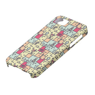 geeky robot maze pattern vector iPhone 5 cases