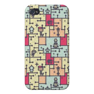 geeky robot maze pern vector iPhone 4 case