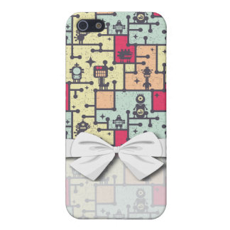 geeky robot maze pern vector iPhone 5 case