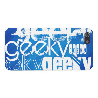 Geeky, Royal Blue Stripes Case For iPhone 5