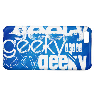 Geeky, Royal Blue Stripes iPhone 5C Cover
