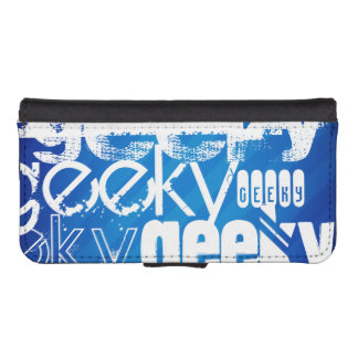 Geeky, Royal Blue Stripes iPhone 5 Wallet