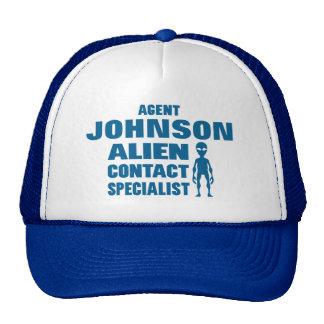 Geeky Sci-Fi Alien Investigator Personalized Cap