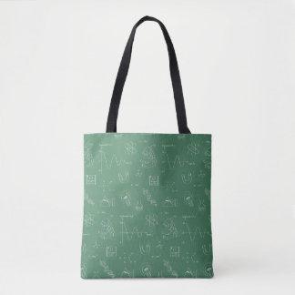 Geeky Science Doodles Pattern Tote Bag