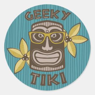 Geeky Tiki Classic Round Sticker