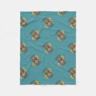 Geeky Tiki Fleece Blanket