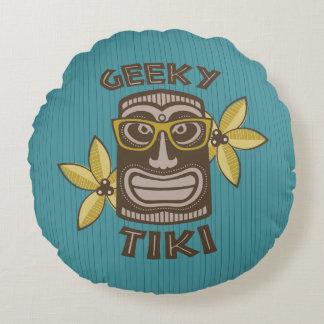 Geeky Tiki Round Cushion