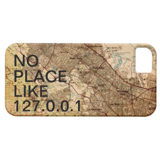 Geeky Vintage Silicon Valley Map iPhone Case