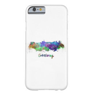 Geelong skyline in watercolor barely there iPhone 6 case