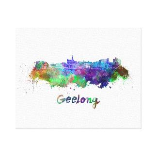 Geelong skyline in watercolor canvas print