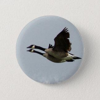 geese 6 cm round badge