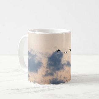Geese and Soft Sunset Coffee Mug