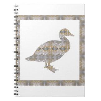 GEESE Bird CRYSAL Stone Pattern NVN429 FUN KIDS Spiral Note Books