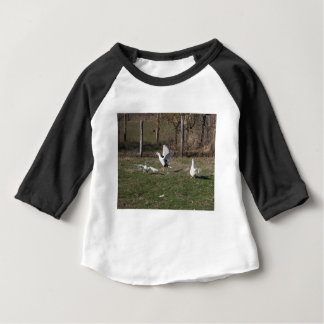 Geese fighting baby T-Shirt