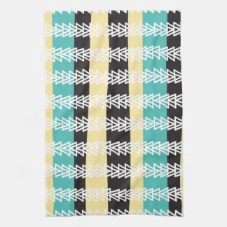 Geese Fly Over- turquiose, yellow, & black Tea Towel
