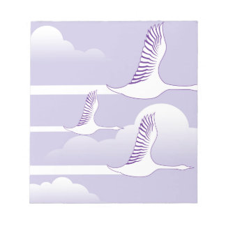 Geese Flying vector Notepad