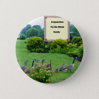 Geese For Acupuncture 6 Cm Round Badge