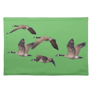 Geese in flight placemat
