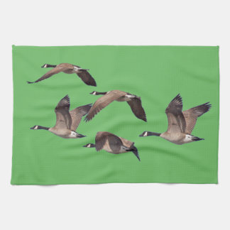 Geese in flight tea towel