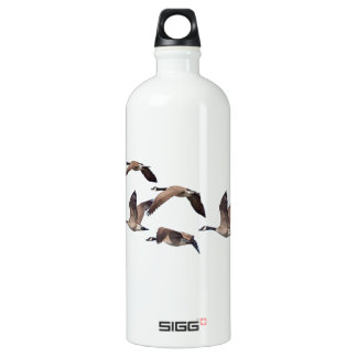 Geese in flight water bottle