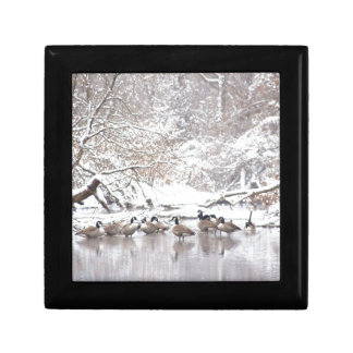 Geese in Snow Gift Box