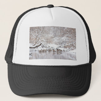 Geese in Snow Trucker Hat