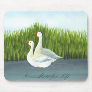 Geese Mate for Life by Brigid O Neill Hovey Mousepads