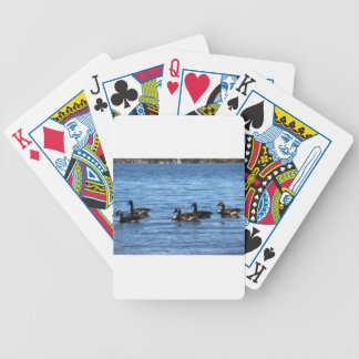 Geese on Lake Bicycle Playing Cards