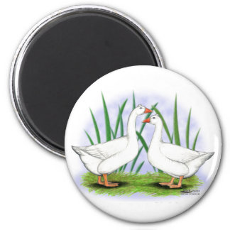 Geese:  Roman Tufted Pair Magnet
