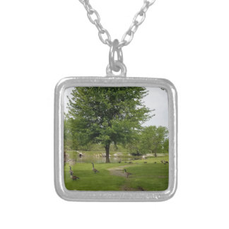 Geese Silver Plated Necklace
