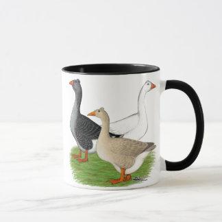 Geese:  Tufted Trio Mug