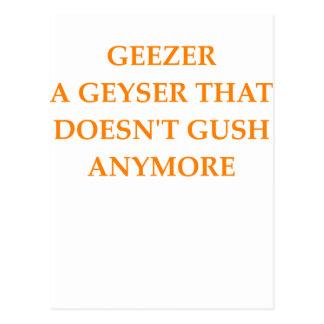 GEEZER POSTCARD