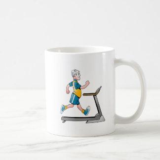 Geezers Go For It Man Treadmill Mug
