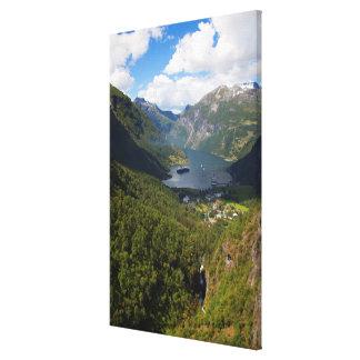 Geiranger Fjord landscape, Norway Canvas Print