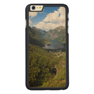 Geiranger Fjord landscape, Norway Carved® Maple iPhone 6 Plus Case
