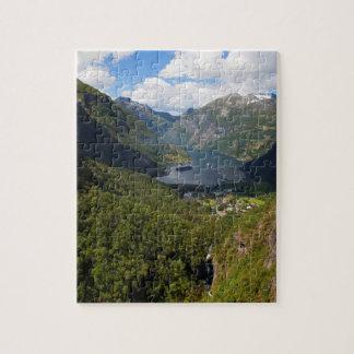 Geiranger Fjord landscape, Norway Jigsaw Puzzle