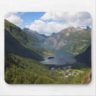 Geiranger Fjord landscape, Norway Mouse Pad