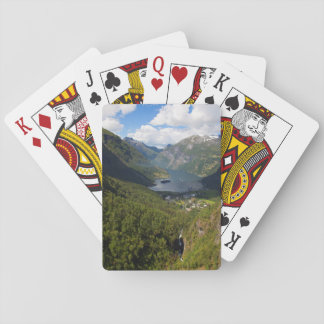 Geiranger Fjord landscape, Norway Playing Cards