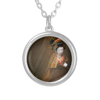 GEISHA 3 SILVER PLATED NECKLACE