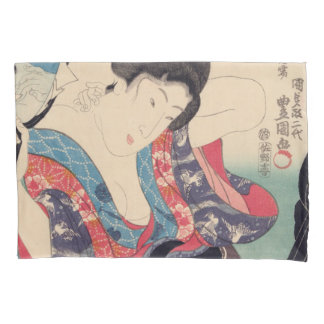 Geisha And Mirror Pillowcase