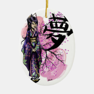 Geisha Ceramic Ornament