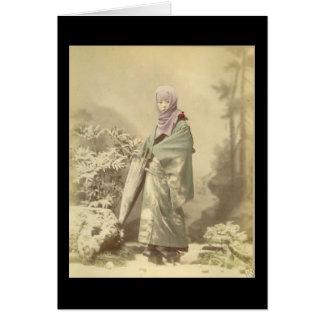 Geisha circa Winter 1885 Card