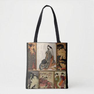 Geisha Collage Tote Bag